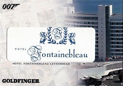 The Complete James Bond Rare Hotel Fontainebleau Letterhead RC3 Relic Card