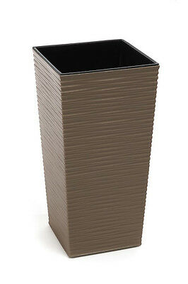 Square Large Tall Plastic Flower Pot Garden Home Planter Indoor Outdoor Frappe