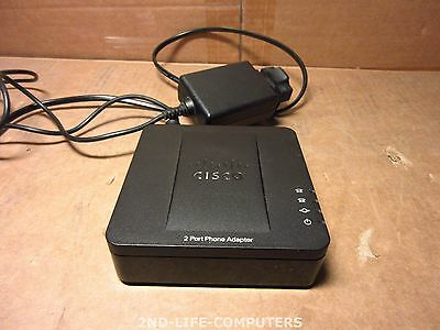 Cisco SPA112 2-Port Phone Adapter VOIP HQ Voice Fax over the Internet + PSU
