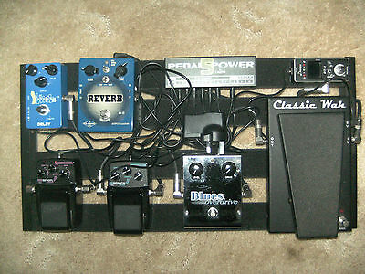 guitar effects pedal board