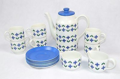 1960's 15 pc staffordshire MIDWINTER Roselle tea set pot geometric keily floral