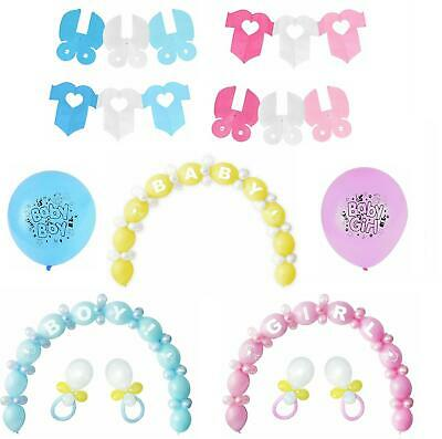 Baby Shower Arch Balloon Decoration Kit Boy Girl Pink Blue Birth Party Set