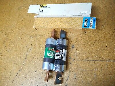 Fusetron FRN-R-150 Dual Element Time Delay Fuses 150A 250V New In Box (Lot of 2)