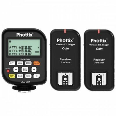 Phottix PH89062 Odin TTL Flash Trigger Receiver v1.5 for Canon - 2 Pack (Black)