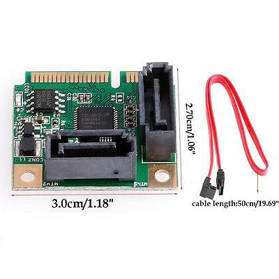 Sale Mini PCI-Express to 2 Ports SATA 3.0 III 6Gb/s Expansion Card Single Chip