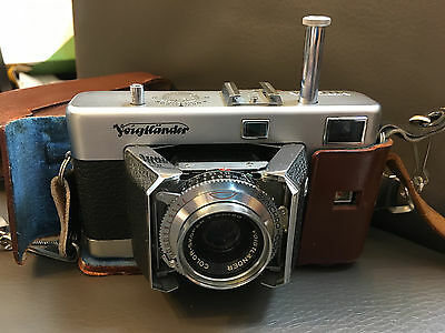 Voigtlander Vitessa 35mm Film Camera with Case and strap