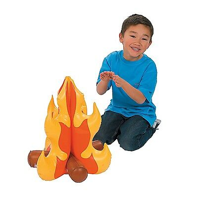 18 Inch Blow Up Inflatable Campfire Theater Prop Pretend Play Camp Scene