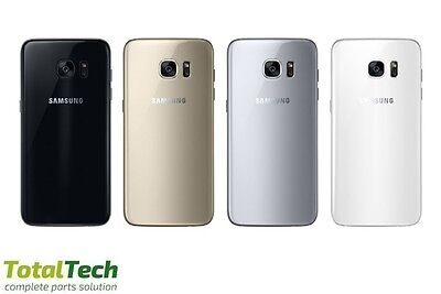 Replacement Back Rear Glass Battery Cover For Samsung S7 + S7 Edge