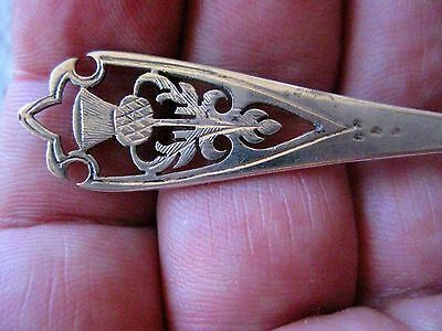 Antique Scottish Sterling Silver Thistle Spoon   D76
