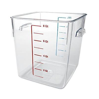 Rubbermaid Commercial Space Saving Food Storage Container, 8 Quart, FG630800 New