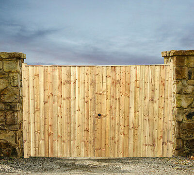 Wooden Driveway Gates Feather Edge 6Ft High