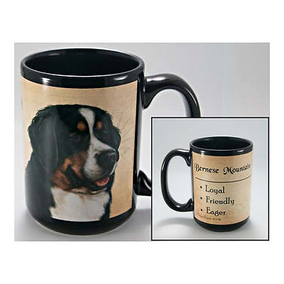 Bernese Mountain Dog Faithful Friends Dog Breed 15oz Coffee Mug Cup