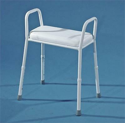 AusCare Extra Wide Height Adjustable Padded Shower Stool