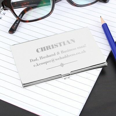 Personalised Engraved Business Card Holder Case Birthday Business Executive Gift