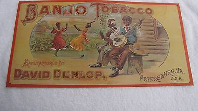 """Vintage Style Wood Country Store Sign Banjo Tobacco Mfg. by David Dunlop 17""""x 9"""""""