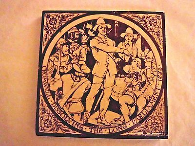 Antique Minton Hollins & Co Stoke on Trent Ceramic Tile
