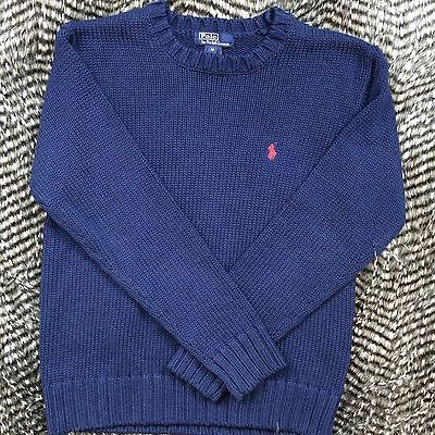 Polo by Ralph Lauren Boys Blue Cable Knit Sweater Long Sleeve Size M