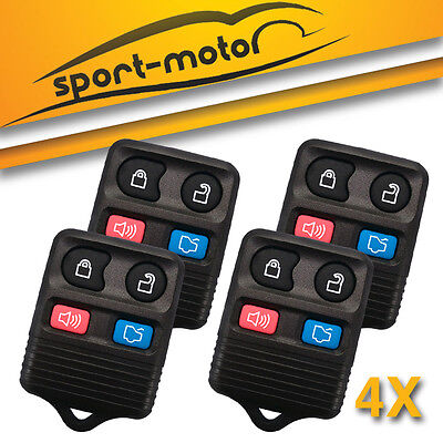 4x Keyless Entry Remote Car Key Fob Transmitter 4 Btn 05-07 Ford Five Hundred