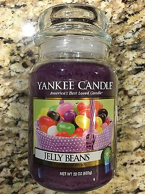 Yankee Candle 22OZ Large Jar Jelly Beans Brand New Free Priority Shipping!!