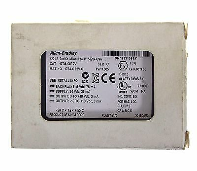 New Allen Bradley 1734-OE2V Series C Point I/O Analog Output Module