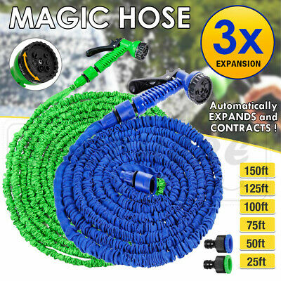 Magic Flexible Expandable Garden Hose Reliable Pocket Water Pipe 7in1 Spray Gun