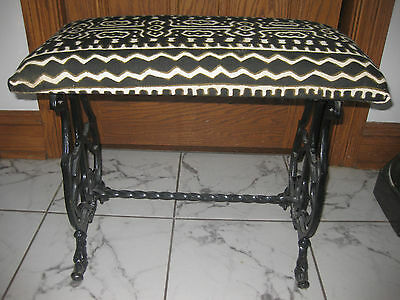 ANTIQUE ART DECO  CAST IRON BENCH MADE BY CITY ART METAL LAMP CO. ca. 1920s