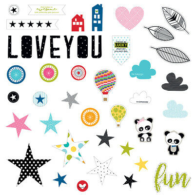 Oh My Stars Paper Pieces Cardstock Die Cuts  OMS1353