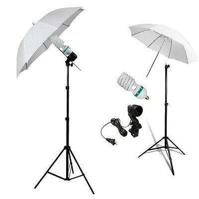 Photo Studio Continuous Lighting One Umbrella Light Lamp Photography Stand KitY