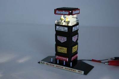 Ho Scale Slot Car Scenery,OFFICIAL JUDGES STAND, LIGHTED for AUTOWORLD,TYCO,AFX