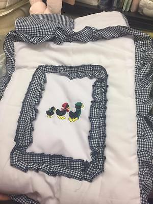 Ducks 2 piece  Cot bedding bale  includes Quilt and bumper New