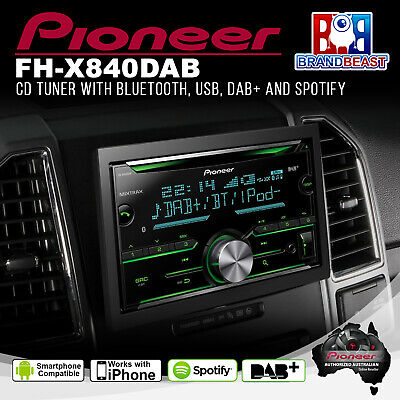 Pioneer FH-X840DAB Double Din Bluetooth Bt Cd Mp3 Ipod Car Digital Radio Dab+