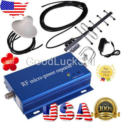 CDMA 850MHz Cell Phone Signal 3G 4G Repeater Booster Amplifier Extender+Yagi Kit