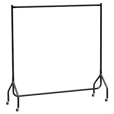 6ft Portable Strong Clothes Rail Hanging Rack Home Garment Market Display Stand
