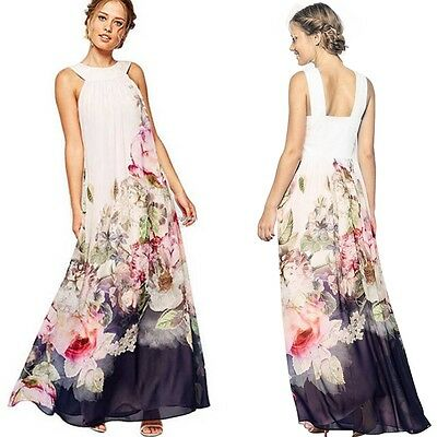 Pregnant Maternity Wedding Party Evening Maxi Dress Gown Long Prom Dress Gift UK