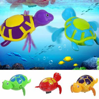 Baby kids Children Animal Floating Wind-up Swimming Turtle Bathing Bath Toy gift