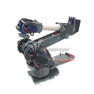 Assembled 6DOF Industrial Robot Mechanical Alloy Arduino Robotics w/ Servos USA