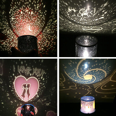 Romantic LED Starry Night Sky Projector Lamp Star Light Cosmos Master Kids Gift