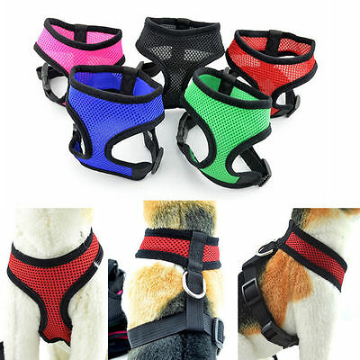 Nylon Pet Puppy Soft Mesh Dog Harness Strap Vest Collar For Small Medium Rakish