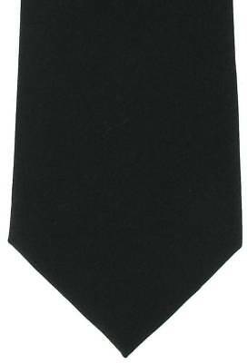 Michelsons of London Plain Silk Tie - Black