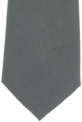 Michelsons of London Plain Silk Tie - Grey