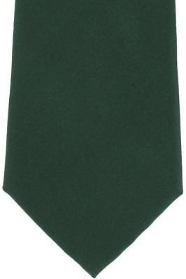 Michelsons of London Plain Silk Tie - Green
