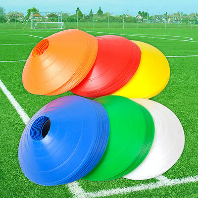 10 Football Soccer Rugby Sport Speed Training Disc Cone Cross Track Space Marker