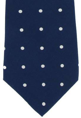 Michelsons of London Silk Polka Dot Tie - Navy