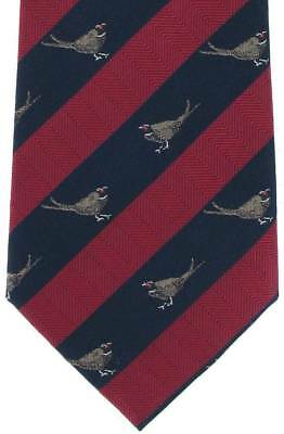 Michelsons of London Pheasant Silk Tie - Red