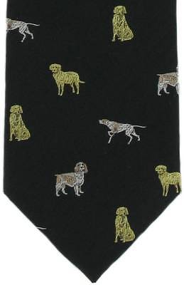 Michelsons of London Gun Dogs Silk Tie - Black