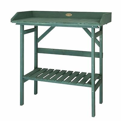 Outdoor Kent and Stowe Painted Garden Potting Bench Table Shelving Greenhouse