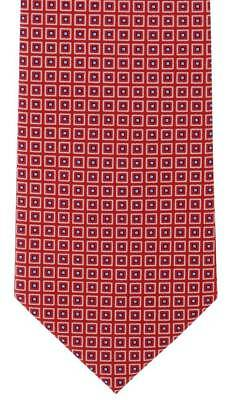 Michelsons of London Classic Diamond Print Silk Tie - Red
