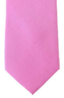 Michelsons of London Plain Twill Silk Tie - Pink