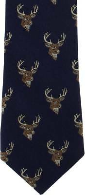 Michelsons of London Deer Silk Tie - Navy