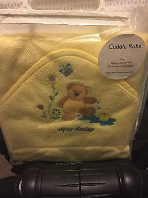 NewBorn Baby Cuddle Robe/Hooded Towel with embroider hood